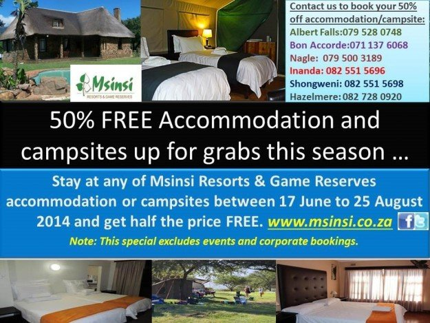 50% Off Accommodation
